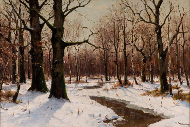 Winter afternoon by Walter Moras