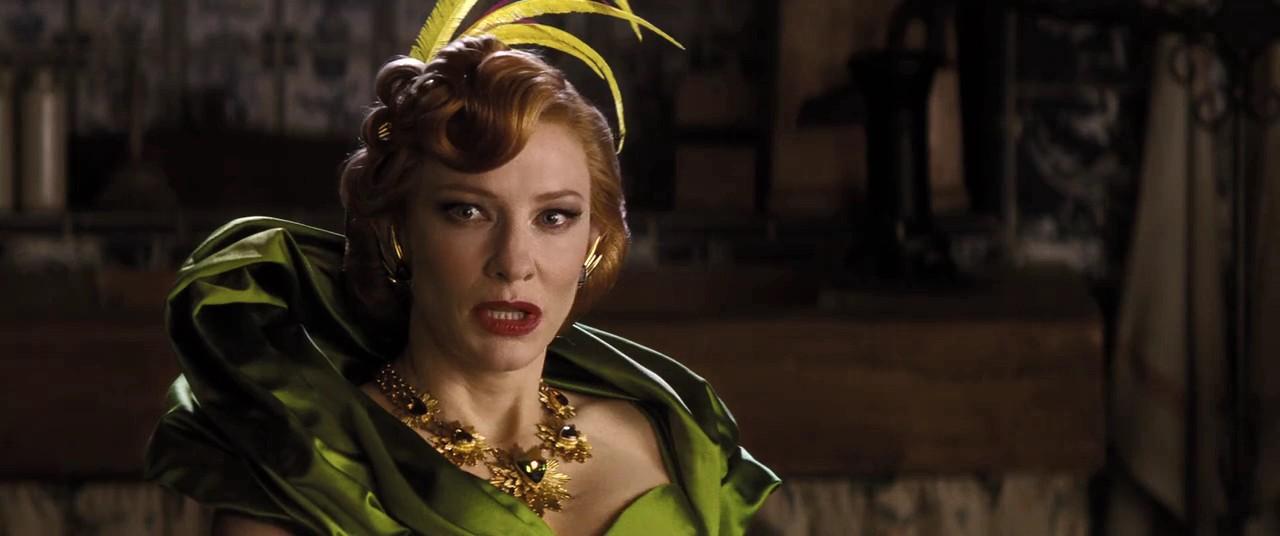 Cate Blanchett as Cinderella's stepmother
